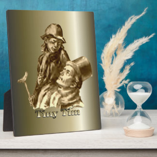 Bob Cratchit and Tiny Tim Christmas Carol Plaque
