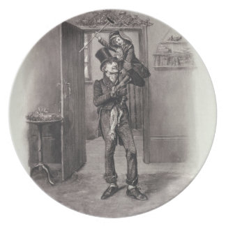 Bob Cratchit and Tiny Tim, from 'Charles Dickens: Plate
