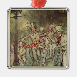 Bob Cratchit went down a slide on Cornhill Christmas Ornament