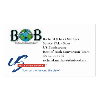 BoB - Dick Mathers Pack Of Standard Business Cards