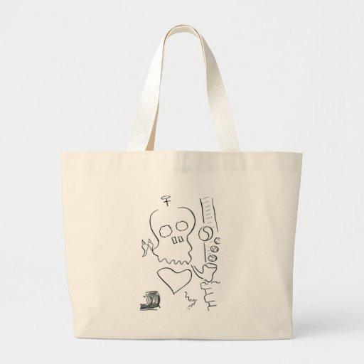 Bob Dobbs Skull Canvas Bags
