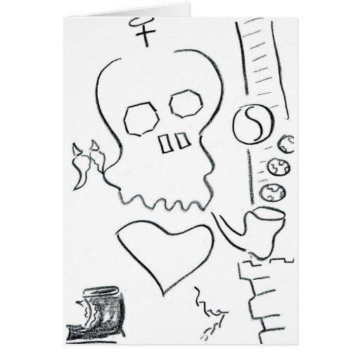 Bob Dobbs Skull Greeting Card
