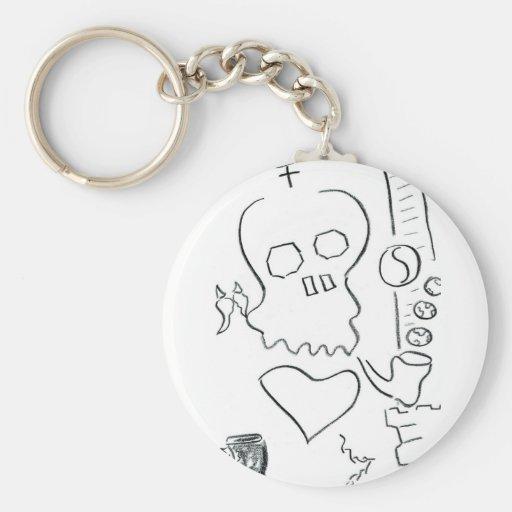 Bob Dobbs Skull Key Chains