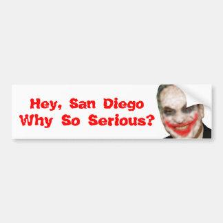 Bob Filner: Why So Serious? Bumper Sticker