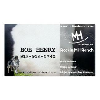 Bob Henry Card Pack Of Standard Business Cards