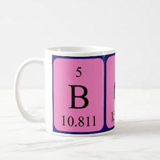 Bob periodic table name mug