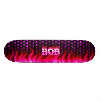 Bob pink fire Skatersollie skateboard.