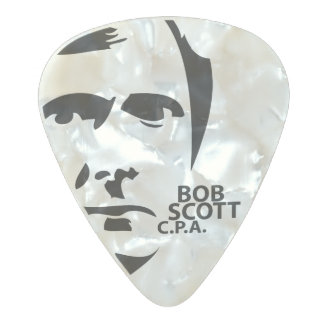 Bob Scott CPA Medium Gauge Guitar Pick Pearl Celluloid Guitar Pick