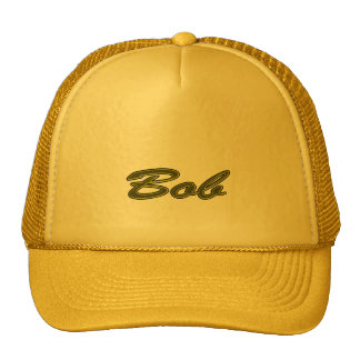 Bob Solid Yellow Style Trucker Hat
