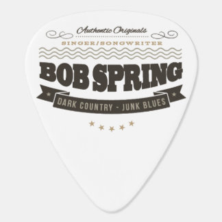 Bob Spring - Guitar Pick - Bobhead and Insignia