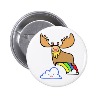 bob the incredible flying moose 6 cm round badge