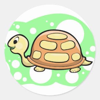 Bob the Turtle Illustration Round Sticker