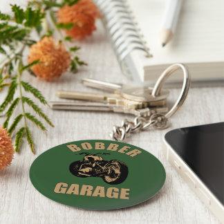 Bobber Garage Basic Round Button Key Ring