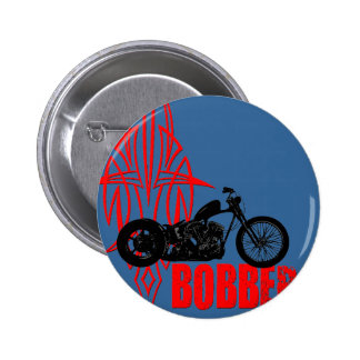 Bobber Motorbike 6 Cm Round Badge