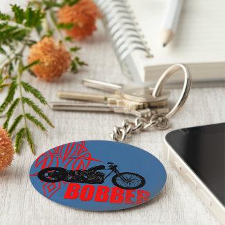 Bobber Motorbike Basic Round Button Key Ring
