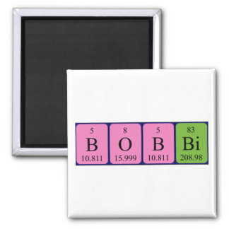 Bobbi periodic table name magnet