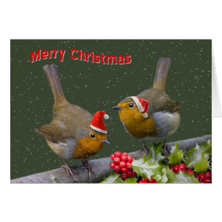 Bobbin' Robins Christmas Card