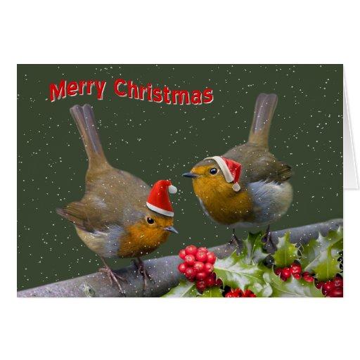 Bobbin' Robins Christmas Card
