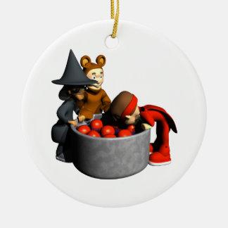 Bobbing For Apples Christmas Ornament