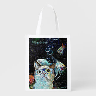 Bobbing for Sushi Reusable Bag