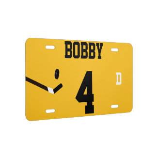 Bobby 4 Gold and Black Ice Hockey Template