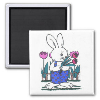 Bobby Bunny Square Magnet