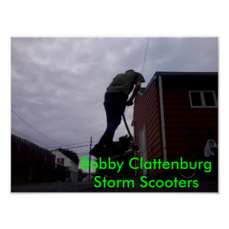 Bobby Clattenburg Storm Scooters Poster