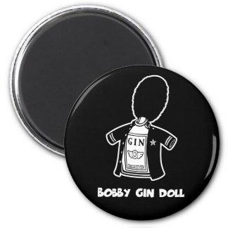 Bobby Gin Doll 6 Cm Round Magnet