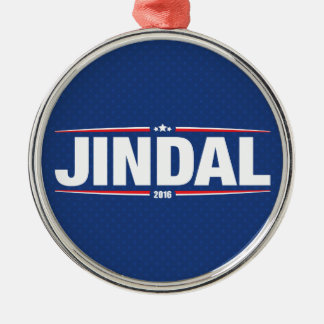 Bobby Jindal 2016 (Stars & Stripes - Blue) Silver-Colored Round Decoration