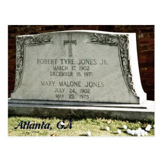 Bobby Jones Tombstone Postcard