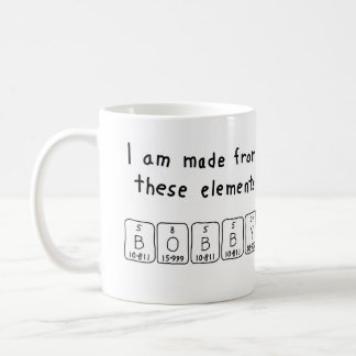 Bobby periodic table name mug