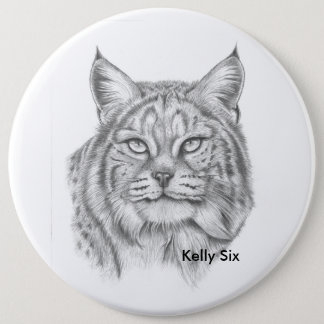 Bobcat 6 Cm Round Badge