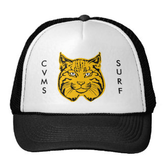 Bobcat Head C V M S S U R F Trucker Hats