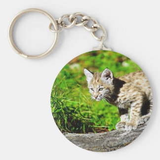 Bobcat Kitten Key Ring
