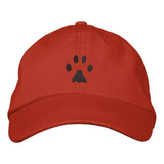 Bobcat Print Embroidered Hats