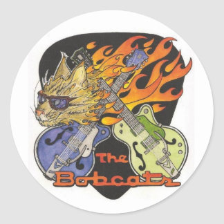 Bobcats Round Sticker
