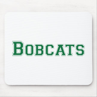 Bobcats square logo in green mouse pad