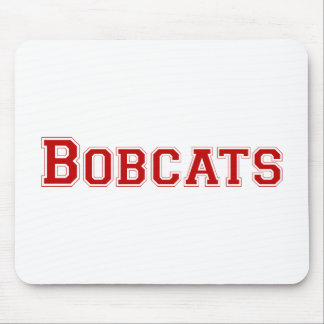 Bobcats square logo in red mousepad