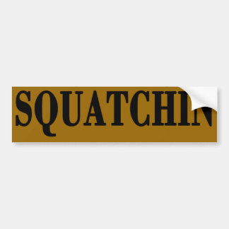 * * Bobo Gone Squatchin, Finding Bigfoot Bumper Sticker