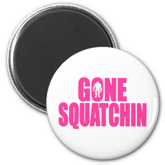 Bobo GONE SQUATCHIN Gear Finding Bigfoot 6 Cm Round Magnet
