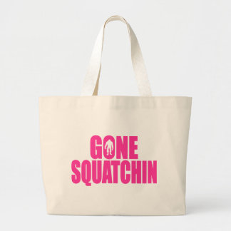 Bobo GONE SQUATCHIN Gear Finding Bigfoot Large Tote Bag