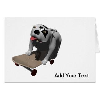 Bobo rides his skateboard greeting card