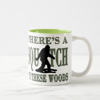 Bobo - There's a SQUATCH in these Woods Two-Tone Coffee Mug