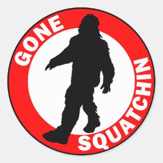 Bobo's GONE SQUATCHIN Round Stickers
