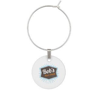 Bob's Your Uncle Funny Man Named Bob Joke Wine Charm