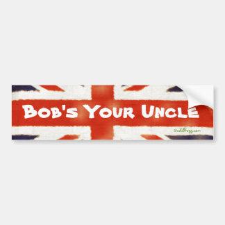 Bob's Your Uncle Vintage Union Jack Bumper Sticker