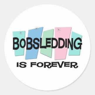 Bobsledding Is Forever Round Sticker