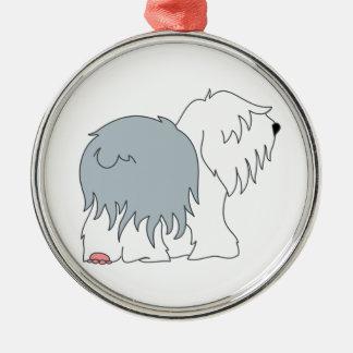 Bobtail Sheepdog Christmas Ornament