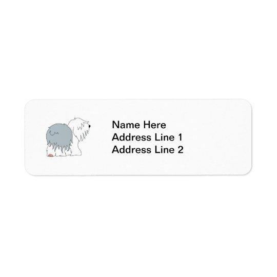 Bobtail Sheepdog Return Address Label