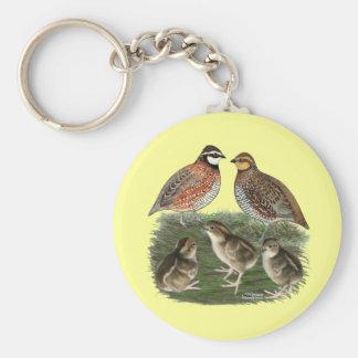 Bobwhite Quail Family Key Ring